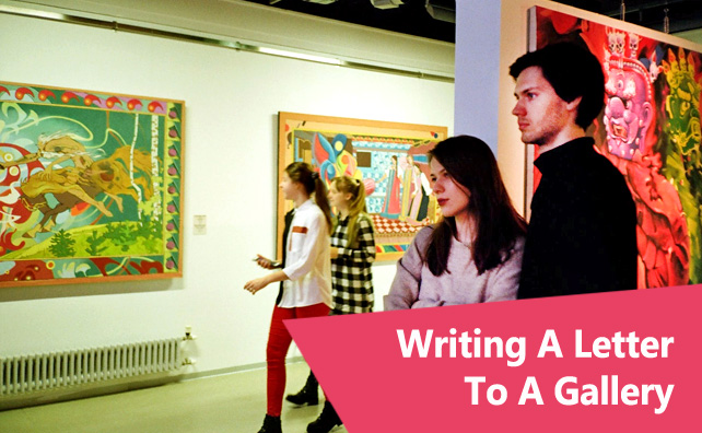 Writing A Letter To A Gallery